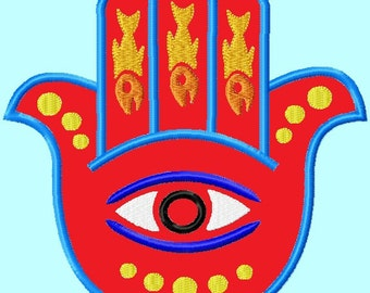 Hamsa Applique Embroidery Designs 3 sizes included  INSTANT DOWNLOAD