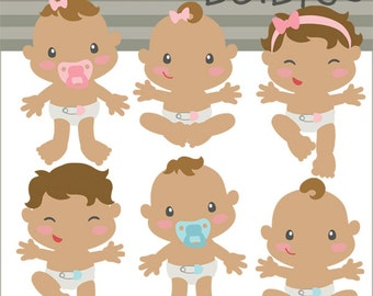 Baby Clipart -Personal and Limited Commercial Use- Babies Digital Clip art