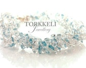 10% SALE IceQueen necklace , Aquamarine necklace, Quartz necklace, wedding jewelry, necklace, blue, white, white quartz, aquamarine
