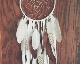 Brown and Gold Bohemian dream catcher