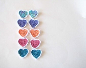 A PAIR of mix and match LACEY HEARTS