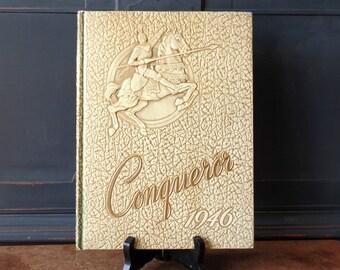 """Vintage Yearbook, 1946, """"Conqueror"""", Philadelphia School of the Bible, Ephemera, Photographs"""