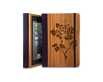 Rose - Bamboo iPad Air Bookcase, Wood iPad Air Case, Wood iPad 5 Bookcase - Primovisto