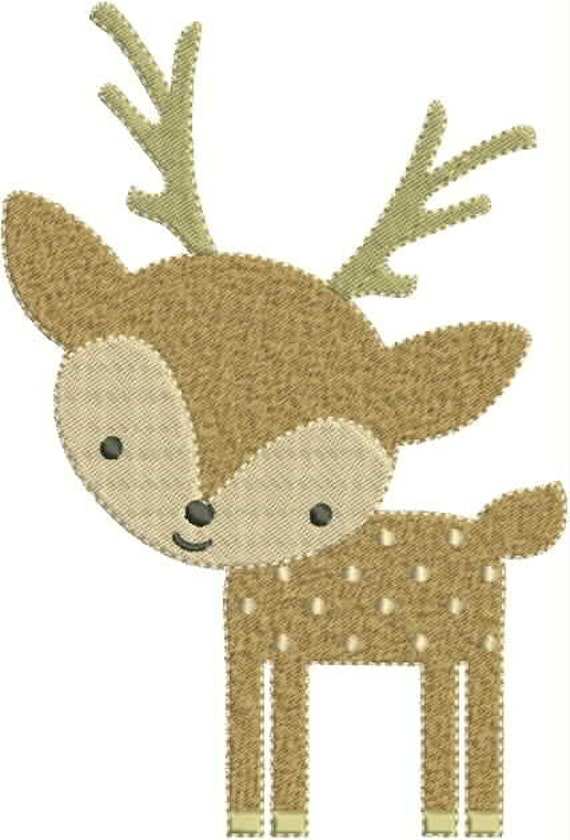 Cute little deer machine embroidery design bernina