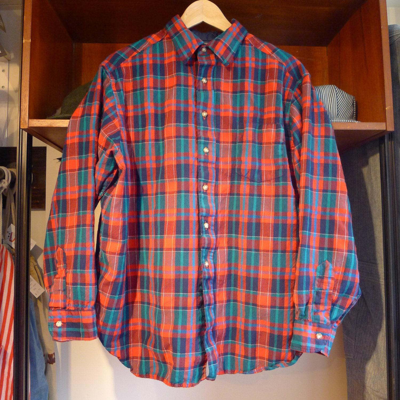 Vintage Pendleton Flannel Shirt Red Blue Green Plaid Rare