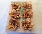 6 handmade paper flowers