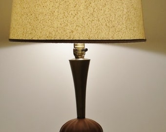 Vintage Brass and Cast Resin Table Lamp
