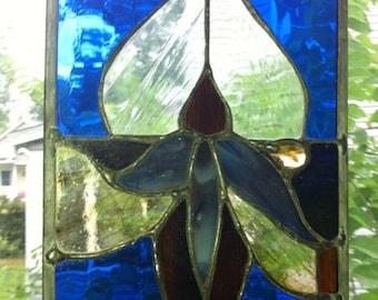 Samsara Stained Glass Blue Coneflower Crystal Nugget Original