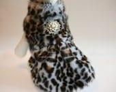Leopard Dog Coat, dog clothing, Dog Jacket, Dog Dress, Winter Clothing, Dog Birthday gift, Dog Lovers