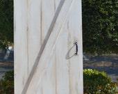 Custom Sliding Barn Door, Z-Barn Door, Shabby Chic White Barn Door
