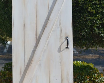 Shabby Chic White Z Sliding Barn Door