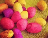 Silk Cocoons - Bright Colours - Art and Craft - Fiber Art - Sunshine