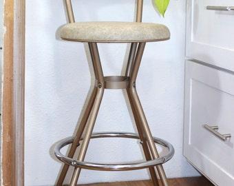 Retro Metal Cosco Swivel Kitchen Stool Chair
