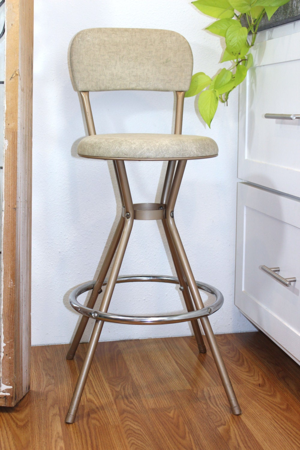 Retro Metal Cosco Swivel Kitchen Stool Chair By