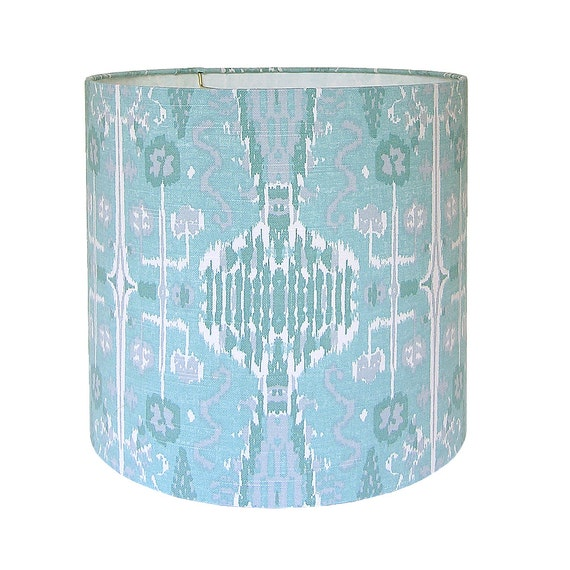 sale drum lamp shade lampshade bombay by lacefield designs in mist. Black Bedroom Furniture Sets. Home Design Ideas