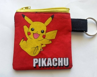 PokeMon Pikachu Coin Pouch Change Purse Keychain