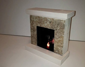 Miniature Fireplace for Barbie, Monster High, Fashion Royalty, Blythe, Momoko