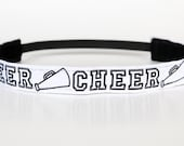 "Cheerleading No Slip Headband 1"", Cheerleading Gifts, Team Gifts, Cheerleader Headband, Under 5,Under 10, Team Spirit, Teen Stocking Stuffer"