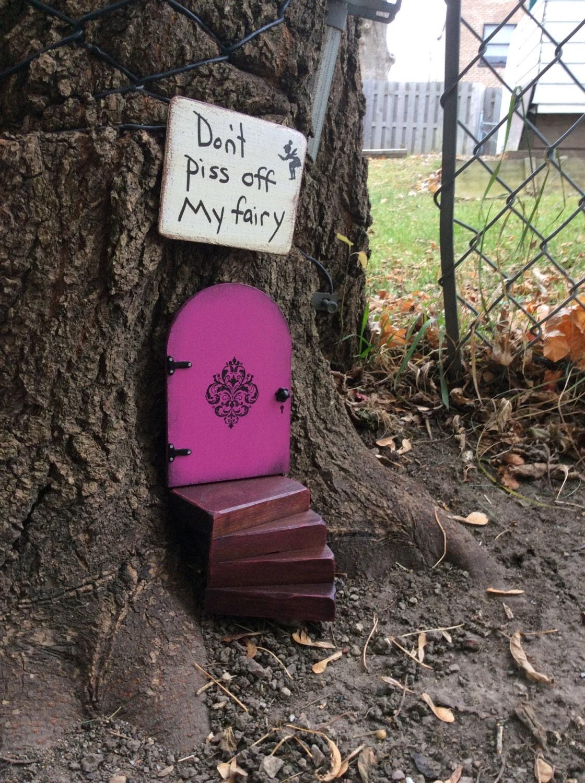 Fairy garden set purple fairy door fairy door miniature for Purple fairy door