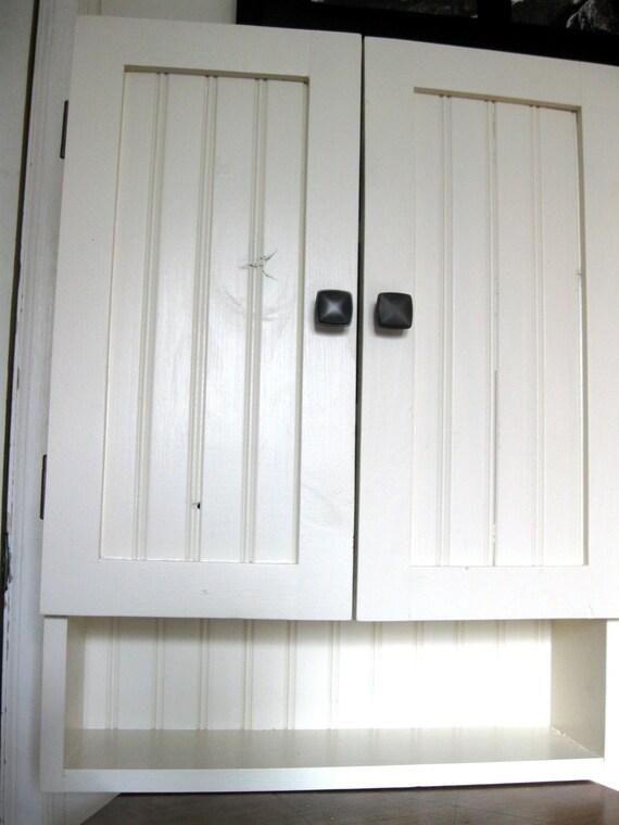 bathroom wall cabinet white shelf by vintagedreamshop on etsy. Black Bedroom Furniture Sets. Home Design Ideas