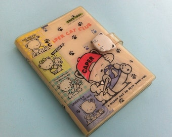 Caper Cat Memo Hello Kitty Notepad Kawaii Diary Hearts Calendar Flowers Address Book Happy Day 1991 School Supplies