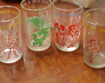 4 Vintage Archie & Veronica Glasses