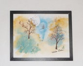 Dusk to Dawn original signed watercolor; spiritual painting; home decor; art