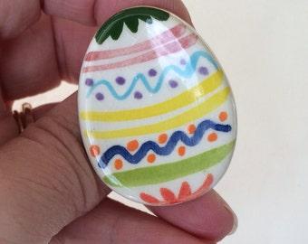 Easter Egg Pin, Easter Egg brooch, easter basket gift, Unique Easter Pin Under 5, Easter gift for teacher