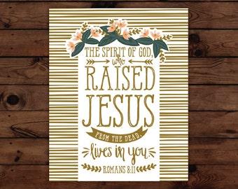 Romans 8:11 Print