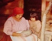 Cherokee American Indian Woman, POTTERY MAKING, ca1940 NC postcard