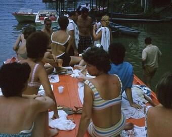 35 mm Slide/Transparency, 1965: Boat Dock Bikini Party (5314-25)