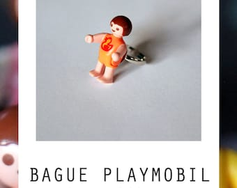 Ring Playmobil baby orange upcycling