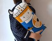 New Viking child boy Scandinavian Retro Rag doll cushion north cotton blue black