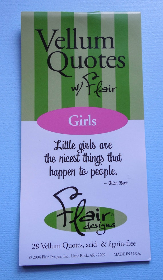Vellum Quotes Booklet, Girls, Dogs, Friendship from LCCherryDesigns3 on Etsy Studio