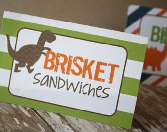 Dinosaur Food Tents, Dinosaur Birthday Food Labels