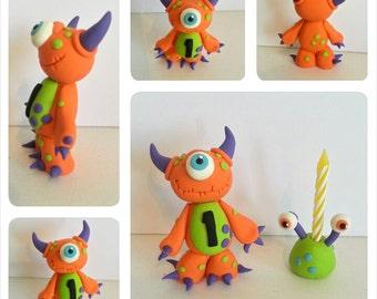 Single Monster Birthday Cake Topper Keepsake