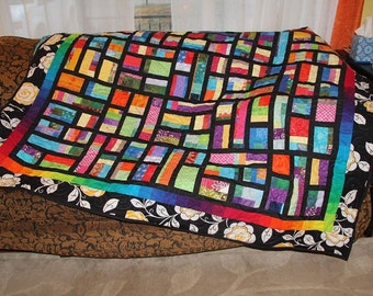 Customized Stained Glass Mosaic Lap Size Quilt