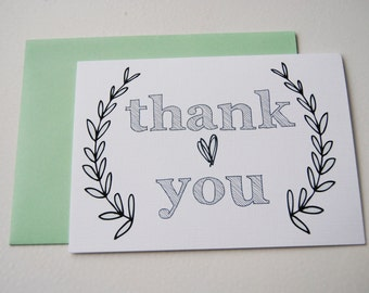 thank you greeting card // blank inside