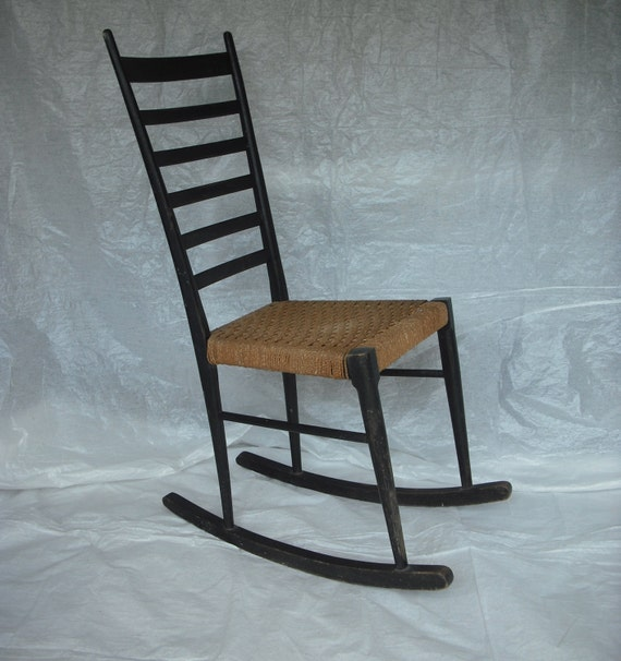 ... lightweight, Italian ladder back rocking chair with small footprint