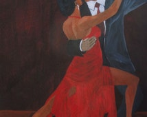 "Tango Dancer Art - ""Lady in Red #19"""