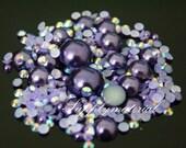 300PCS Mixed Dark Purple Pearls AB Rhinestone Jewelry Accessories materials supplies