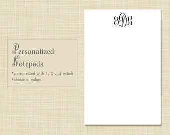 Personalized Notepad - Personalized Note Pad - Monogram Notepad - Monogram Note Pad - ELEGANT MONOGRAM