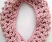 Girls Pink Scarf - Pink Toddler Scarf - Toddler Infinity Scarf - Girls Infinity Scarf - Child Scarf - Pink Knit Scarf - Pink Crochet Scarf