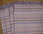 Clearance Pearl Pink and Lavender Handwoven Rag Rug Placemats