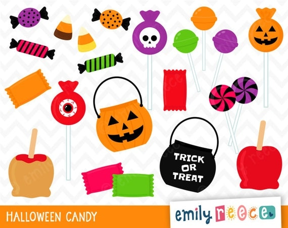Trick Or Treat Candy Clipart 50% OFF SALE Halloween...