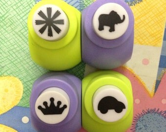 a Paper Punch (Pick 1) - Ray Light, Elephant, Crown, Or Car