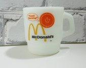Vintage McDonald's Coffee Cup. Fire King. Anchor Hocking. Stackable and Collectible. The Golden Arches. Good Morning Sunshine Design.