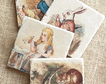 Alice In Wonderland  Coasters, Alice In Wonderland Decor, Alice In  Wonderland Gift,