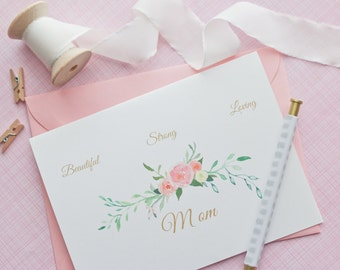 Mother's Day Card - Handmade Greeting Card - Paper Goods - Mom Card - Handmade Cards