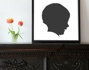 Custom Silhouette - you own digital files!